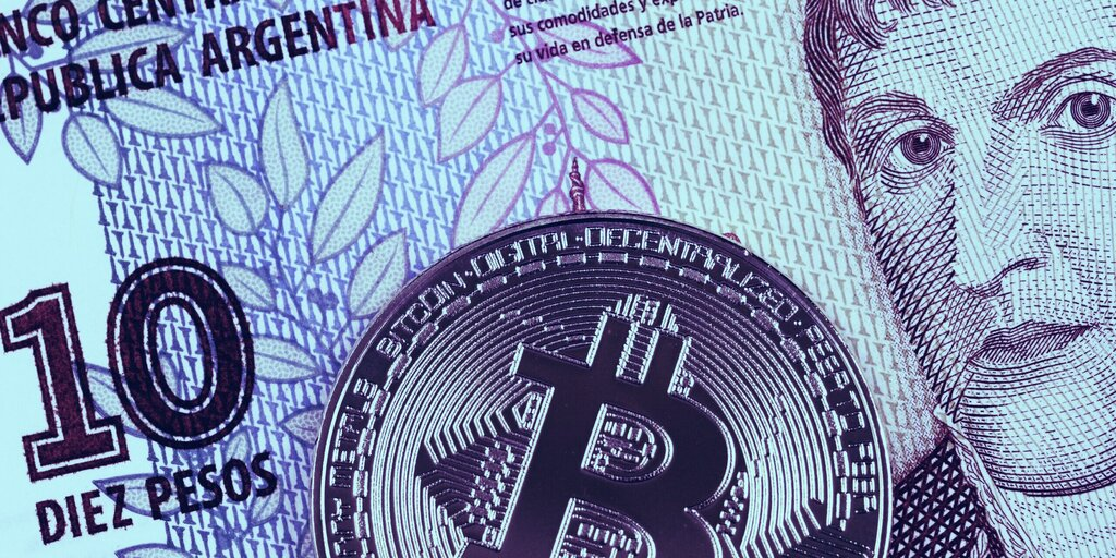 Argentina's currency joins Lebanese Lira in slump to satoshi parity