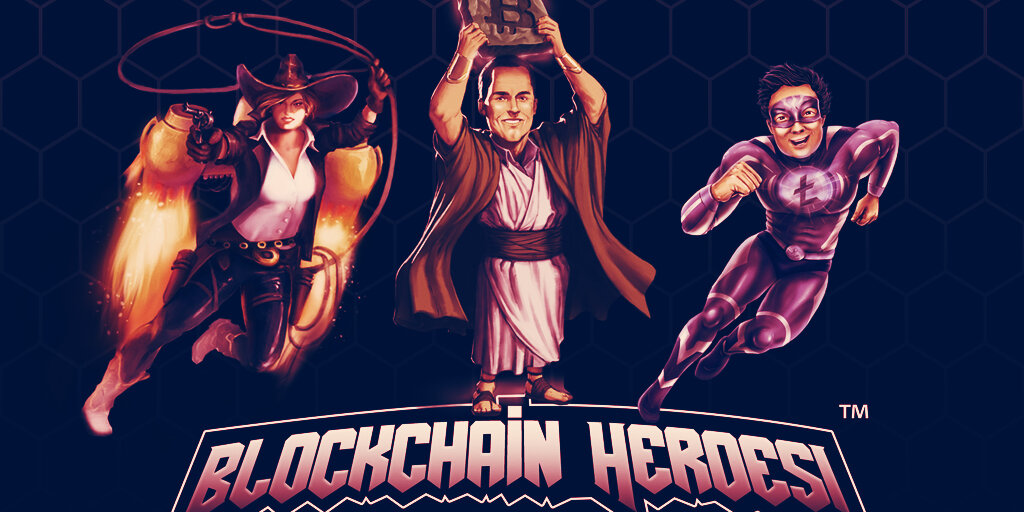 Crypto <bold>icons</bold> become superheroes in Blockchain Heroes trading cards