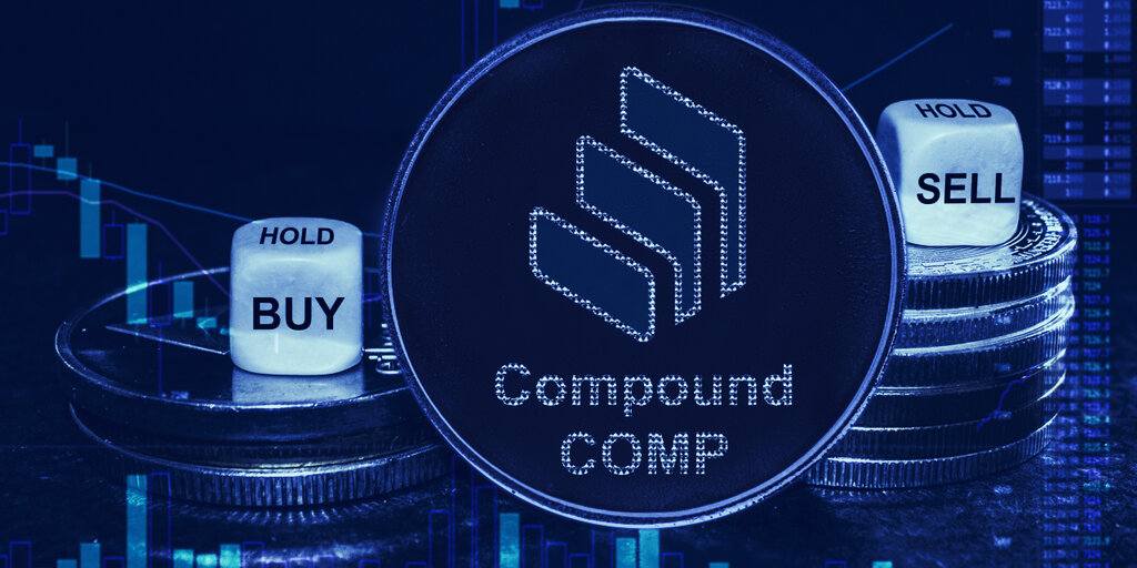 Compound's COMP DeFi token sinks 40% in one week