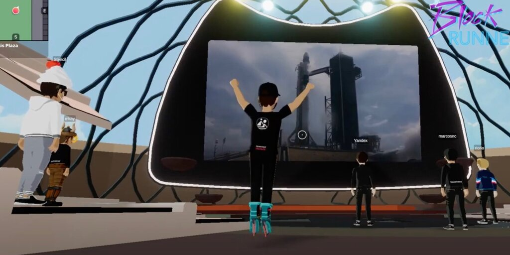 Elon Musk's SpaceX launch was replicated in virtual reality