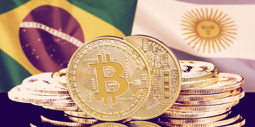 Bitcoin trading soars in Argentina, Brazil as local currencies weaken