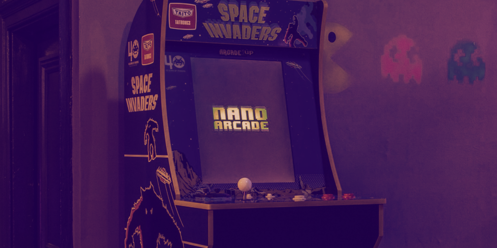 Pay Cryptocurrency to Play Retro Space Invaders Game in UK Bar