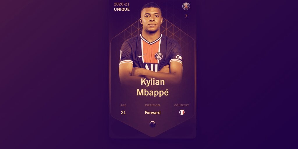 Kylian Mbappé Trading Card Sells for $65,000 on Ethereum