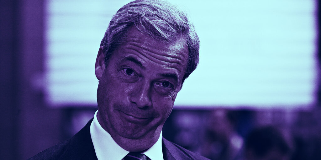 Nigel Farage Has Become a Bitcoin Believer
