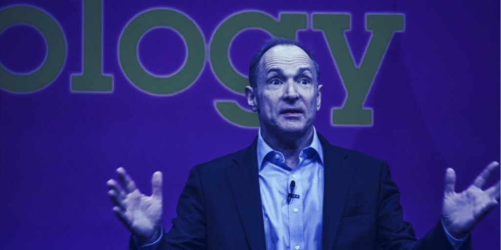 Web Creator Tim Berners-Lee Has a Plan to Decentralize the Web