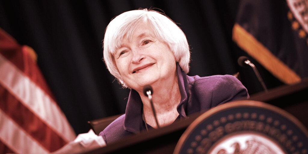 Yellen's Treasury Behind Anti-Crypto Tax Provision in Senate Bill: Report