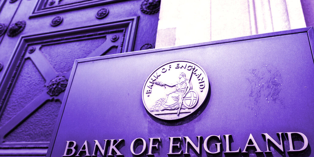 Crypto Poses 'Limited Risk' to UK: Bank of England
