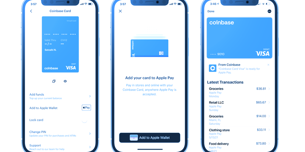 Coinbase Adds Apple Pay to Crypto Debit Card