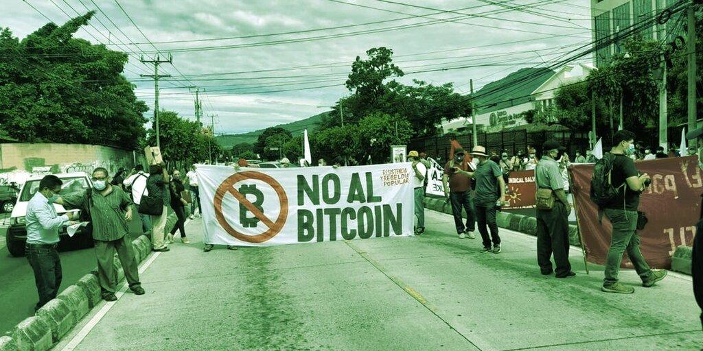 El Salvador Bitcoin Law Has Citizens Protesting