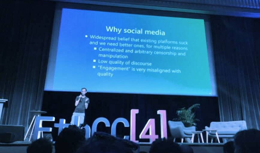 Vitalik Buterin Beseeches Ethereum Crowd in Paris to 'Move Beyond DeFi'