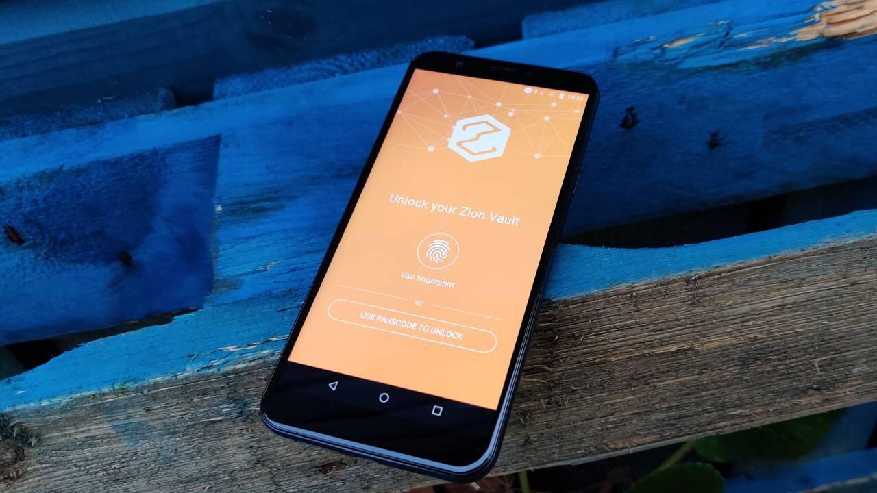 HTC Exodus 1s - Zion wallet