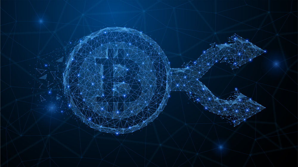 bitcoin network hard fork visual representation