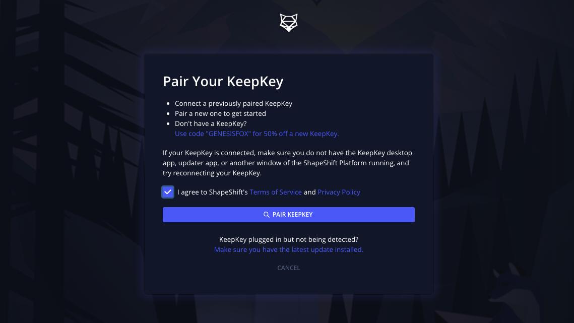 KeepKey Setup