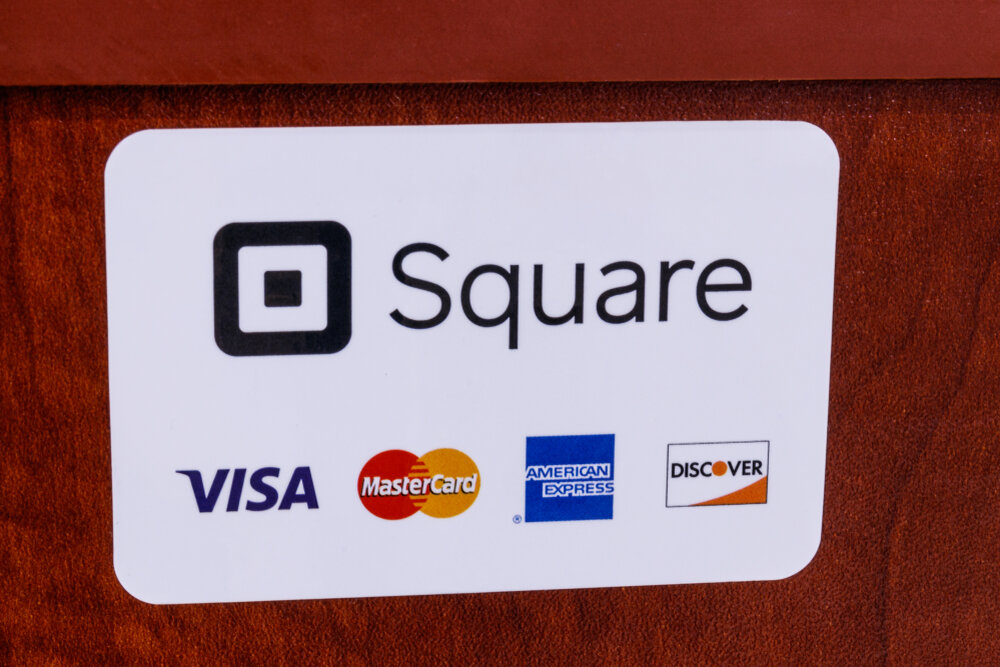 Square VISA and Mastercard payment options