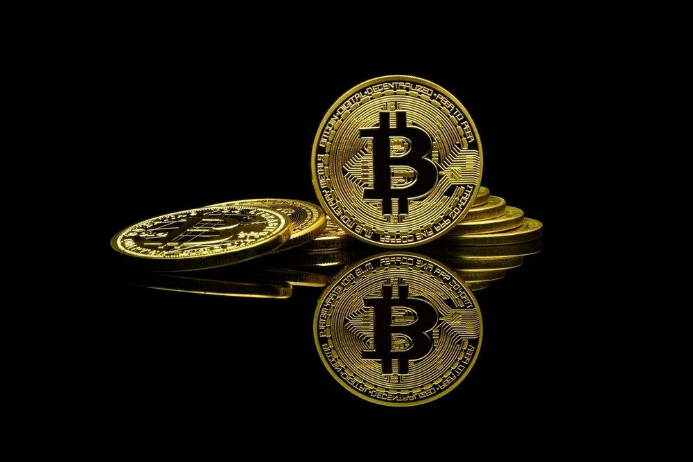 Several Bitcoin gold coins
