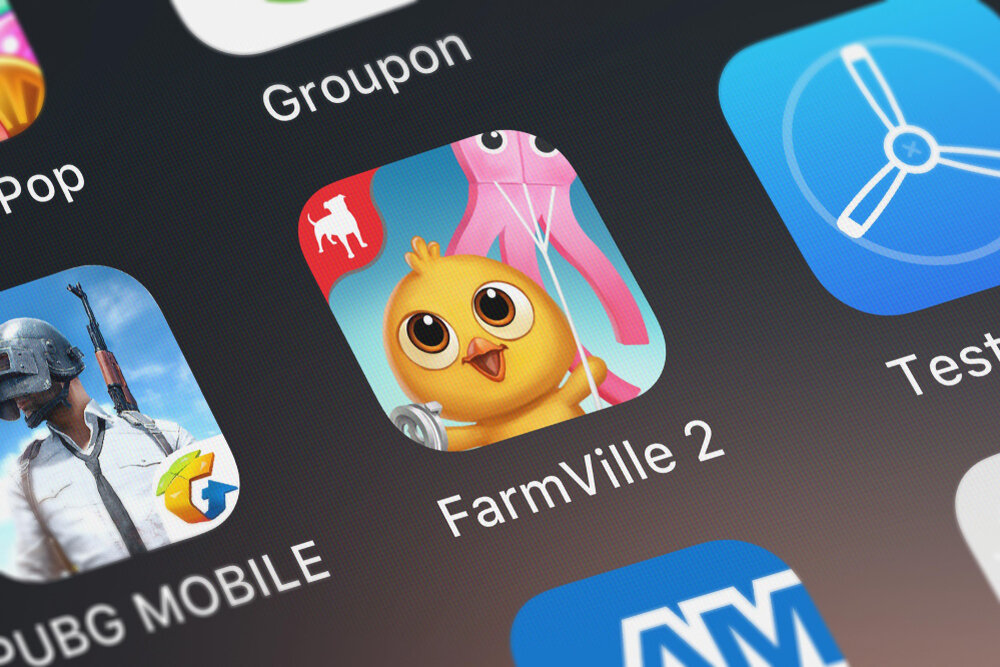 The second version of FarmVille