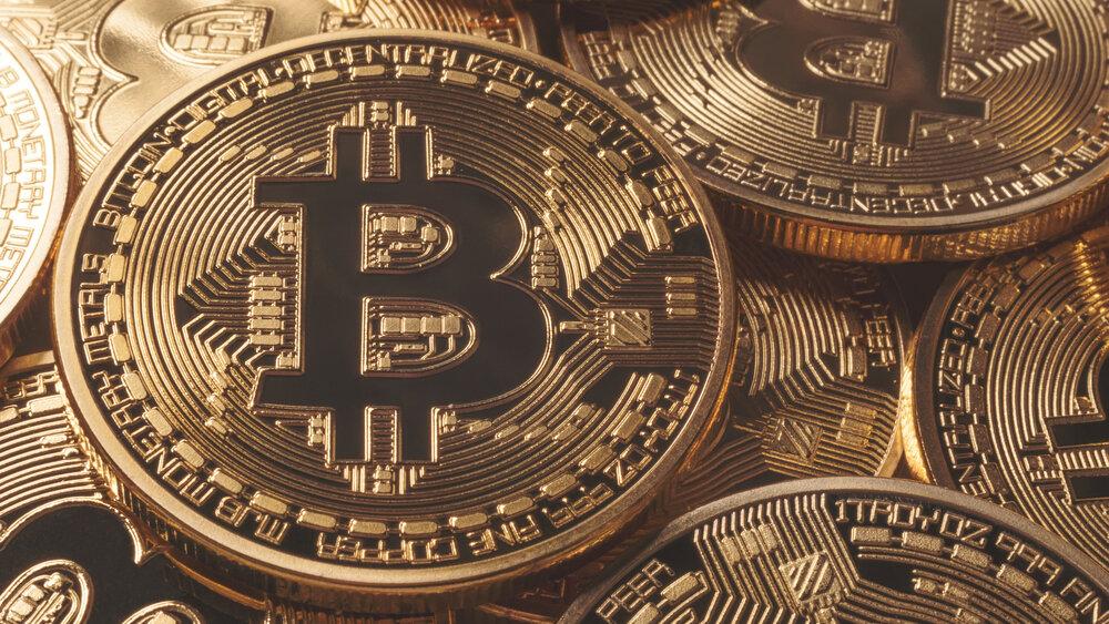 A pile of Bitcoin