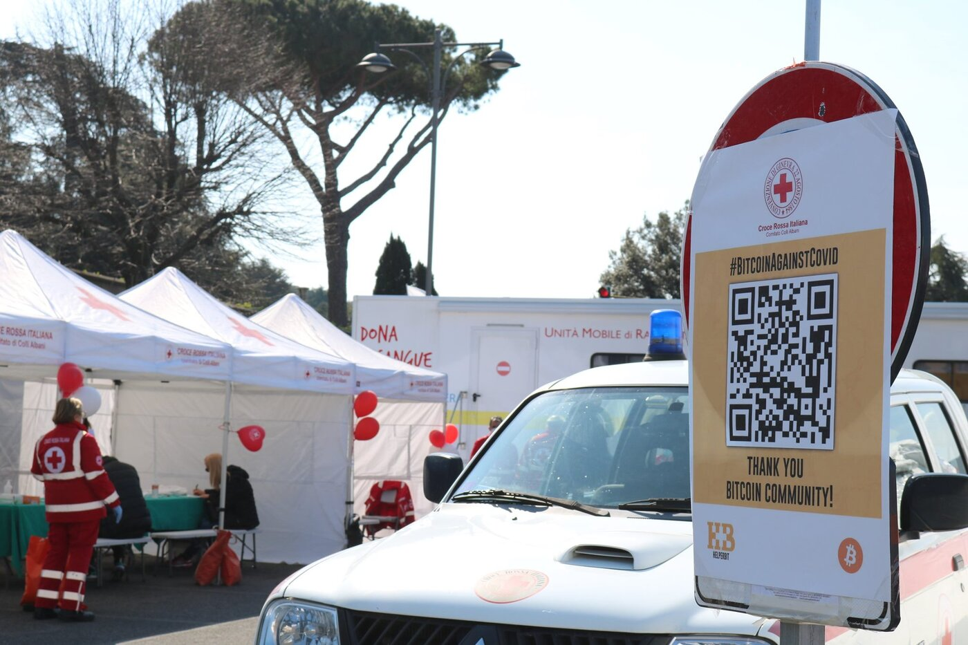 COVID-19: Bitcoin donations fund Red Cross medical post