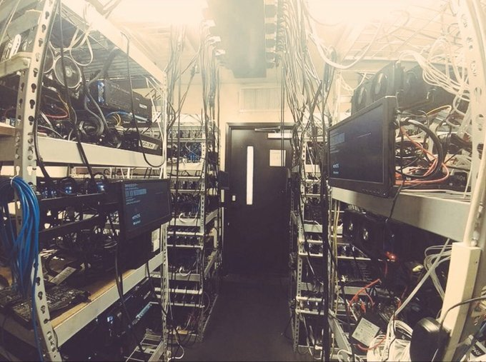 Pomp's first bitcoin miner