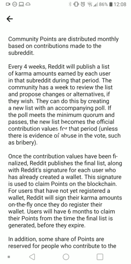 How Reddit points will be handed out