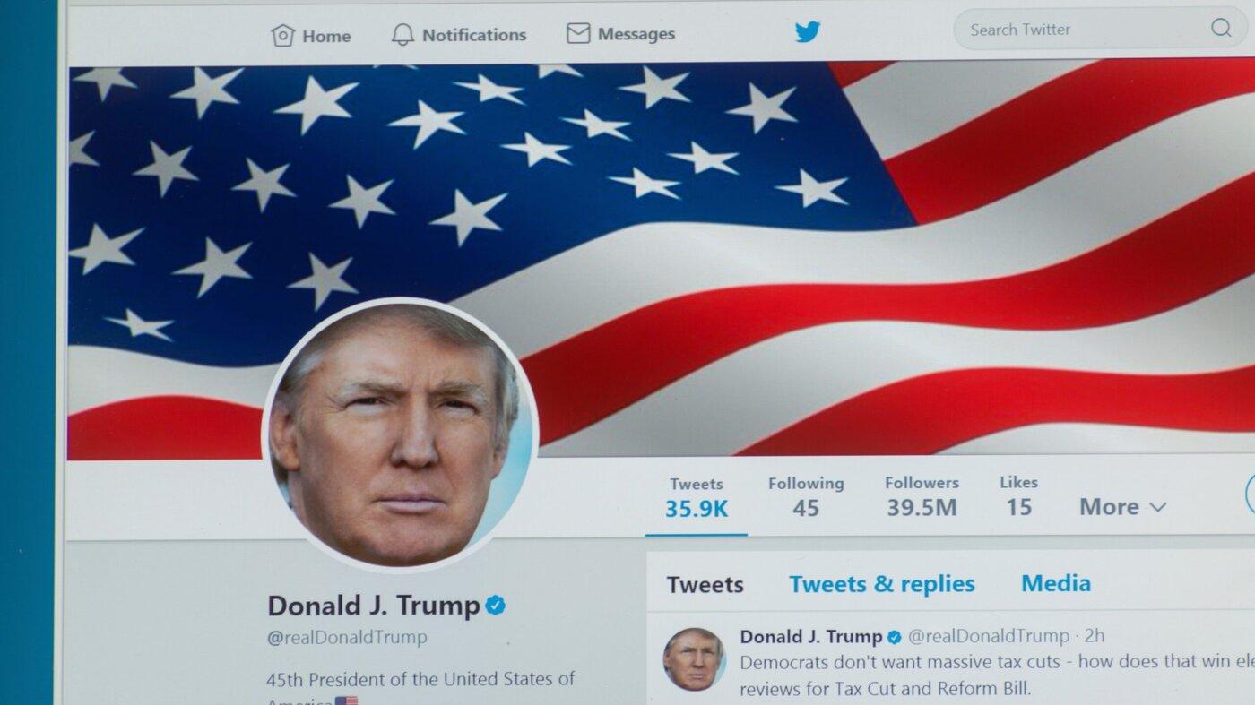 Donald Trump's Twitter profile