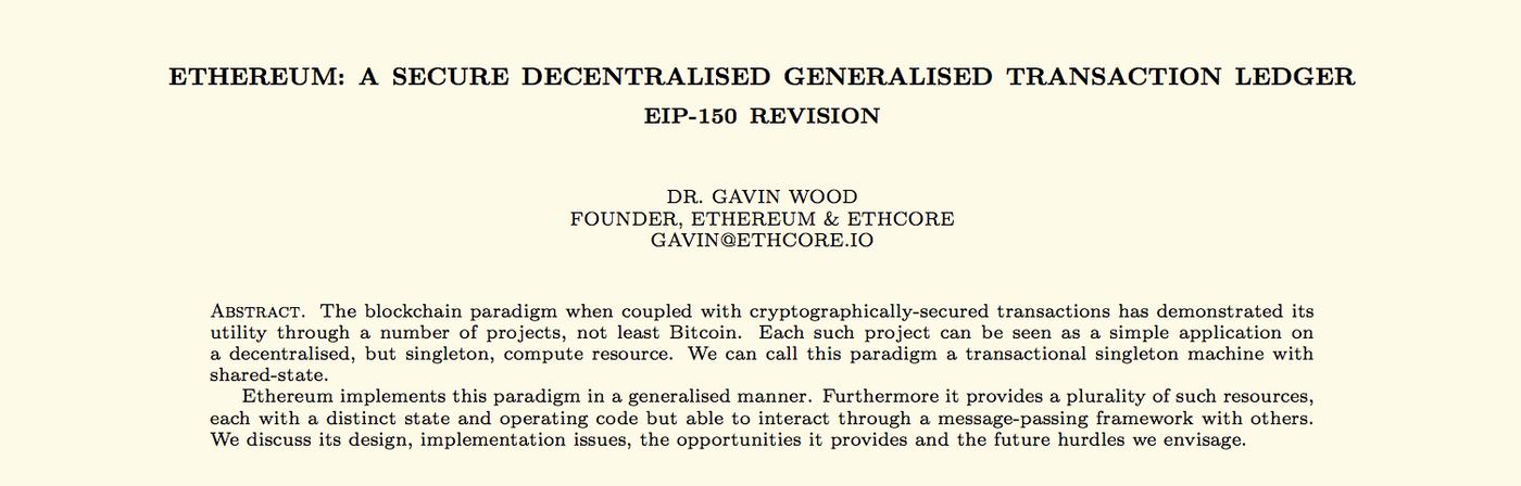 Gavin Wood yellow paper