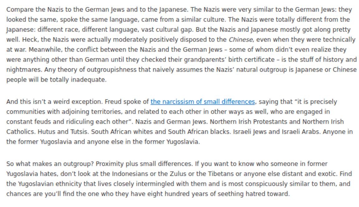 Nazis and German Jews comparison text.