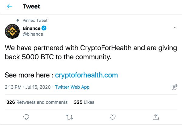 Binance twitter hacked