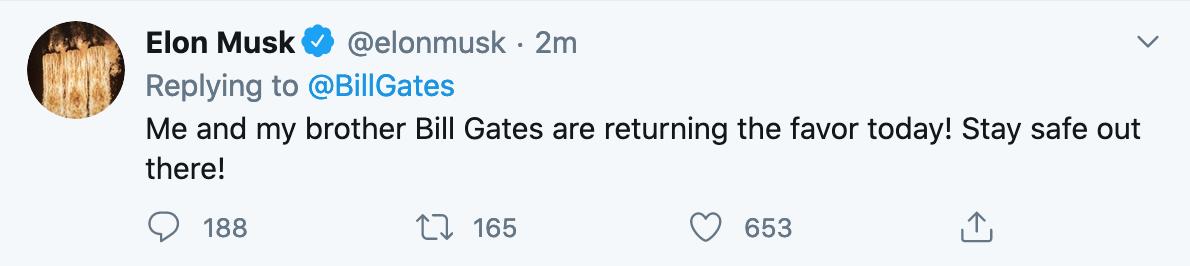 Bill Gates has account hacked