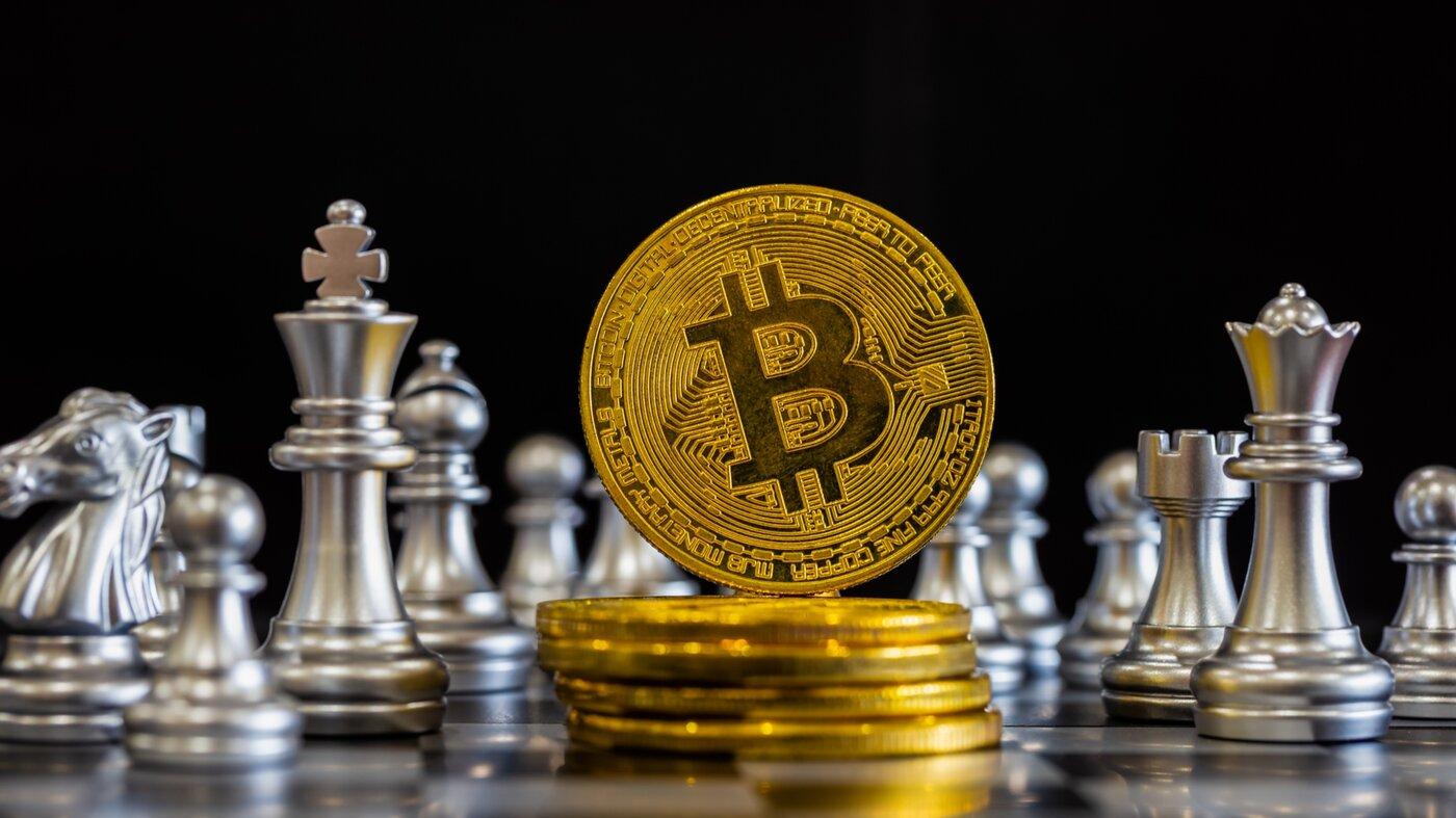Bitcoin on a chess board
