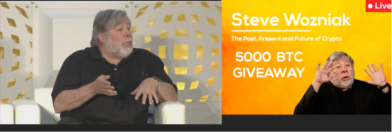 Steven Wozniak being used by scammers as bait