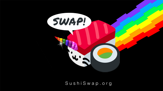 Sushi swap marketing material