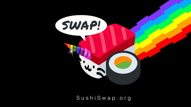 Material de marketing de Sushi Swap
