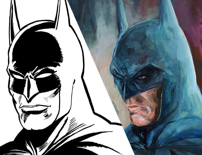 Batman sketch by Delbo