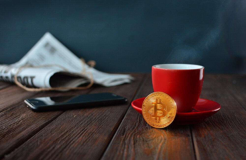 Bitcoin and a newspaper