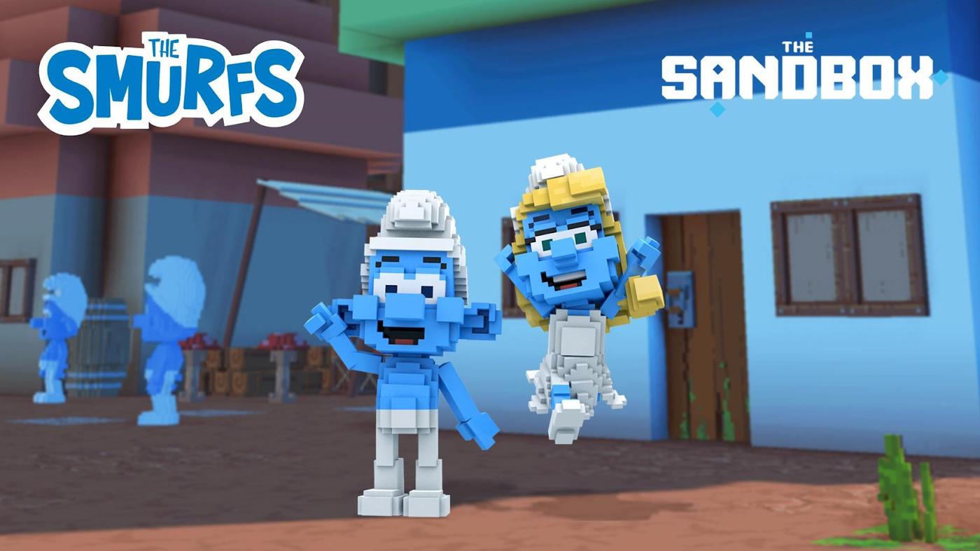The Smurfs in The Sandbox. Image: The Sandbox