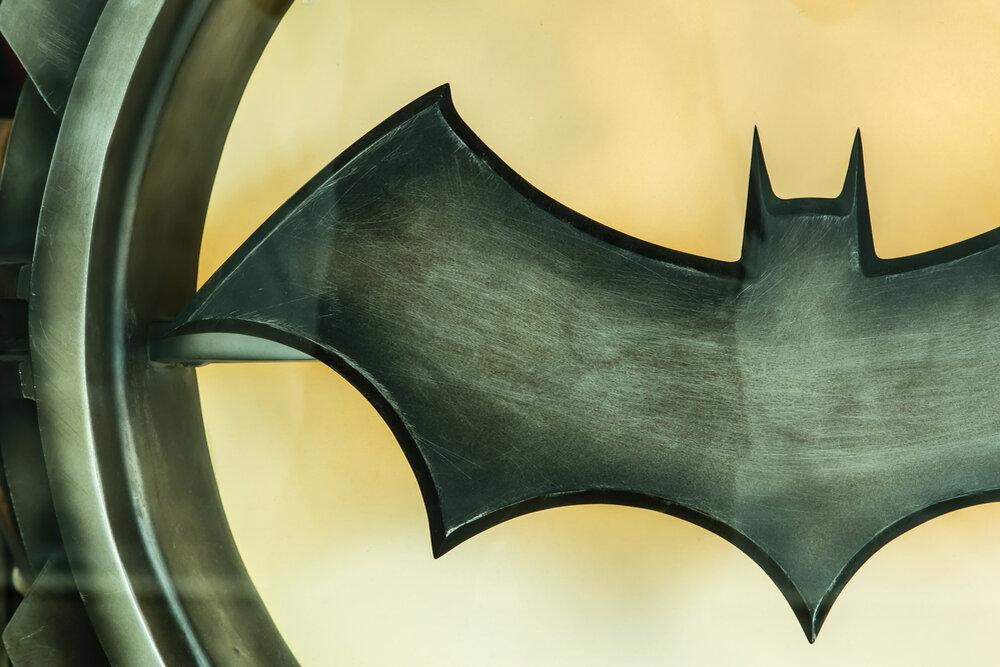 Batman symbol on a light