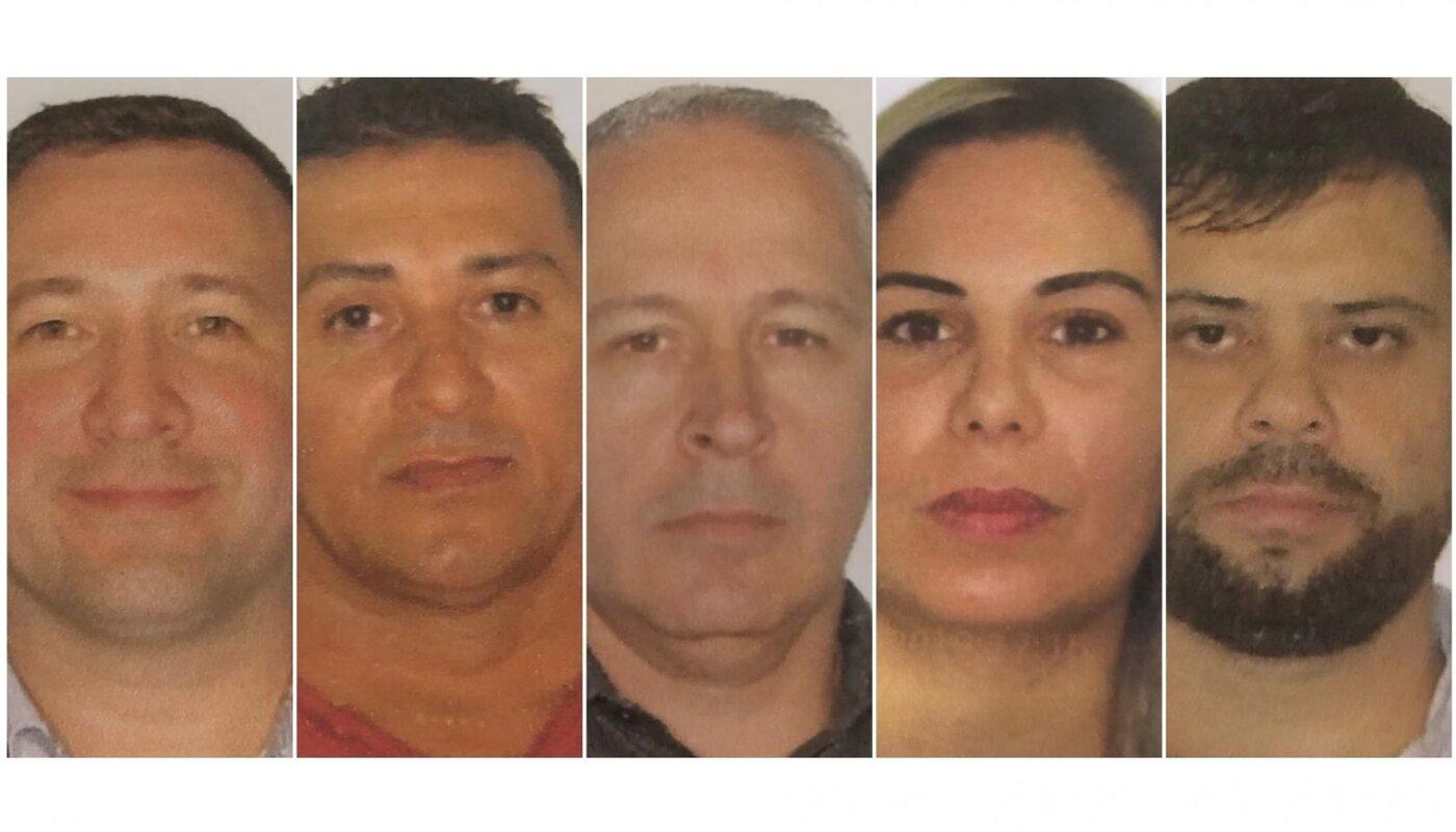 Marcos Fagundes y sus cómplices del esquema fraudulento de criptomonedas. Image: Correio de Gravataí