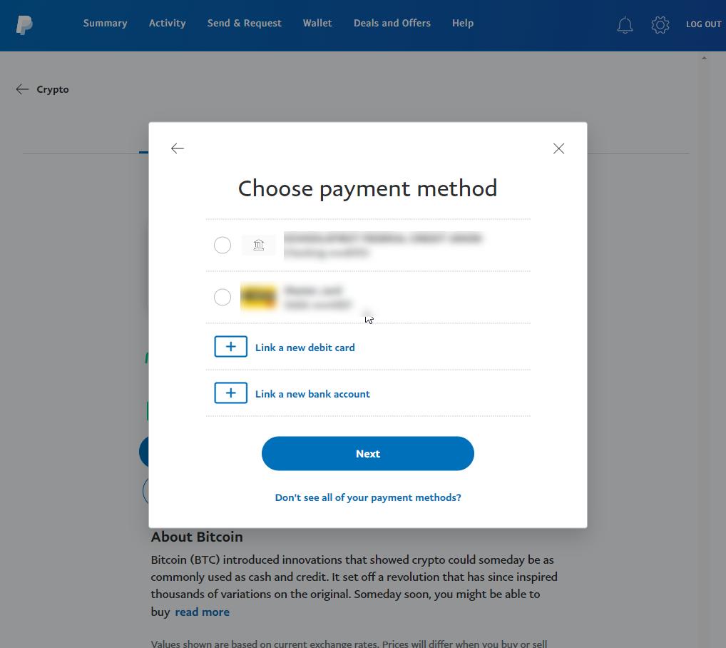 Capture d'écran PayPal