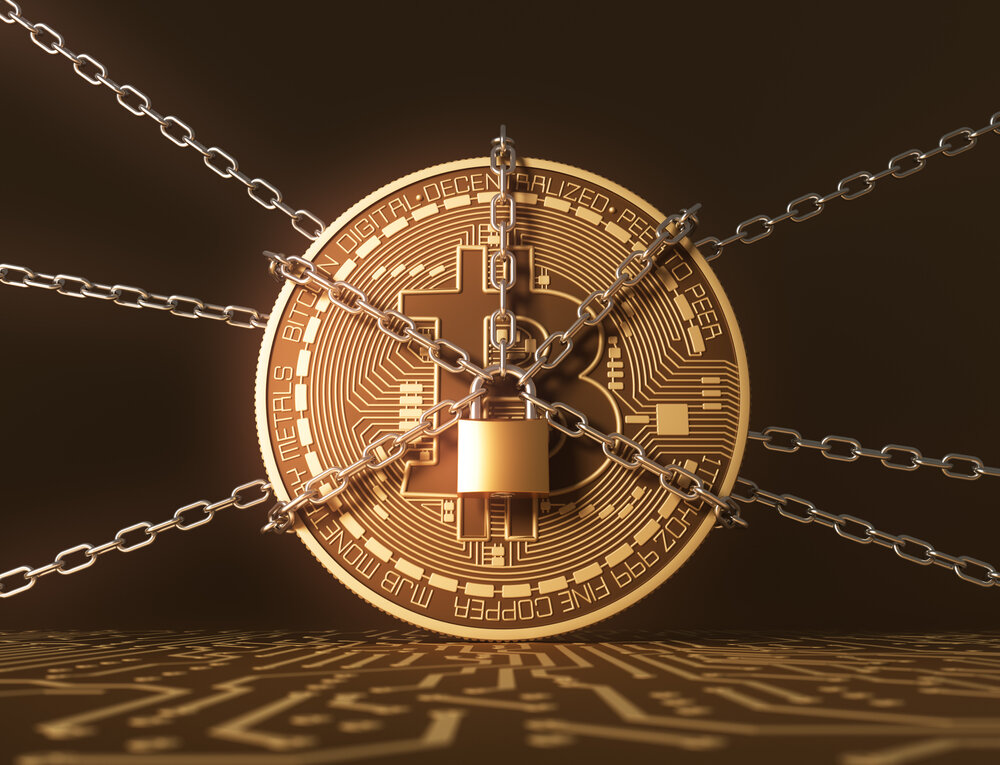 Bitcoin chained up