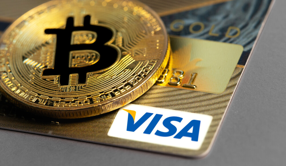 Visa card with Bitcoin