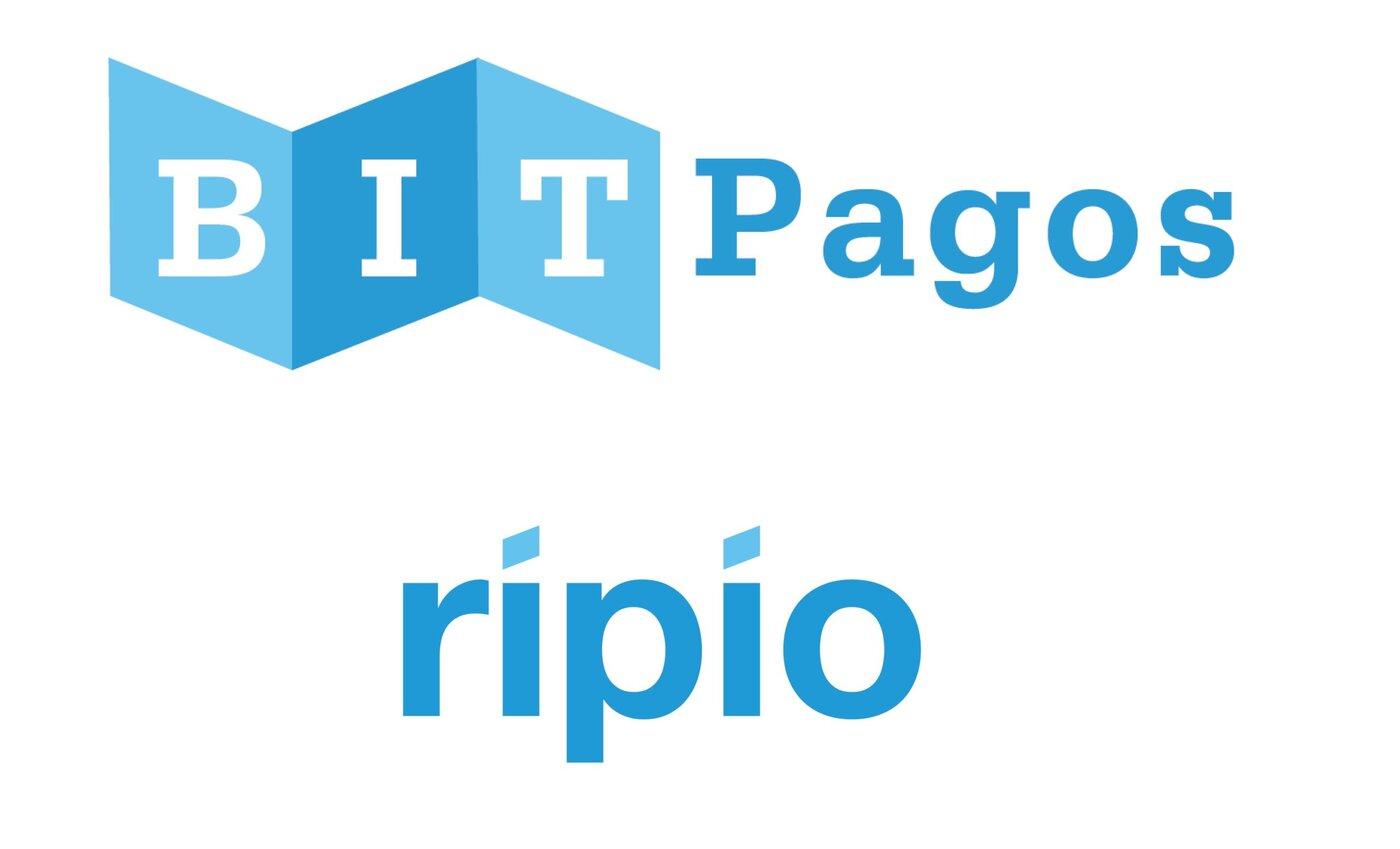 Logos de BITPagos y Ripio