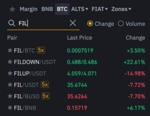 Buy FIL