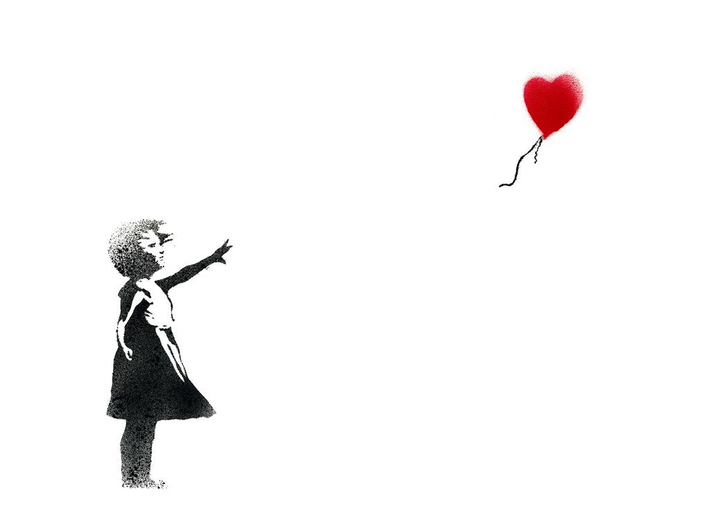 """Girl with a balloon"""
