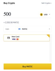 Buy MATIC