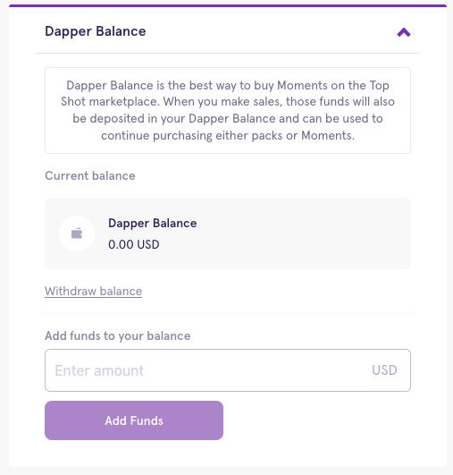 Adding money to your account