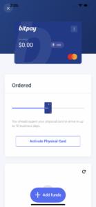 BitPay ordering screenshot