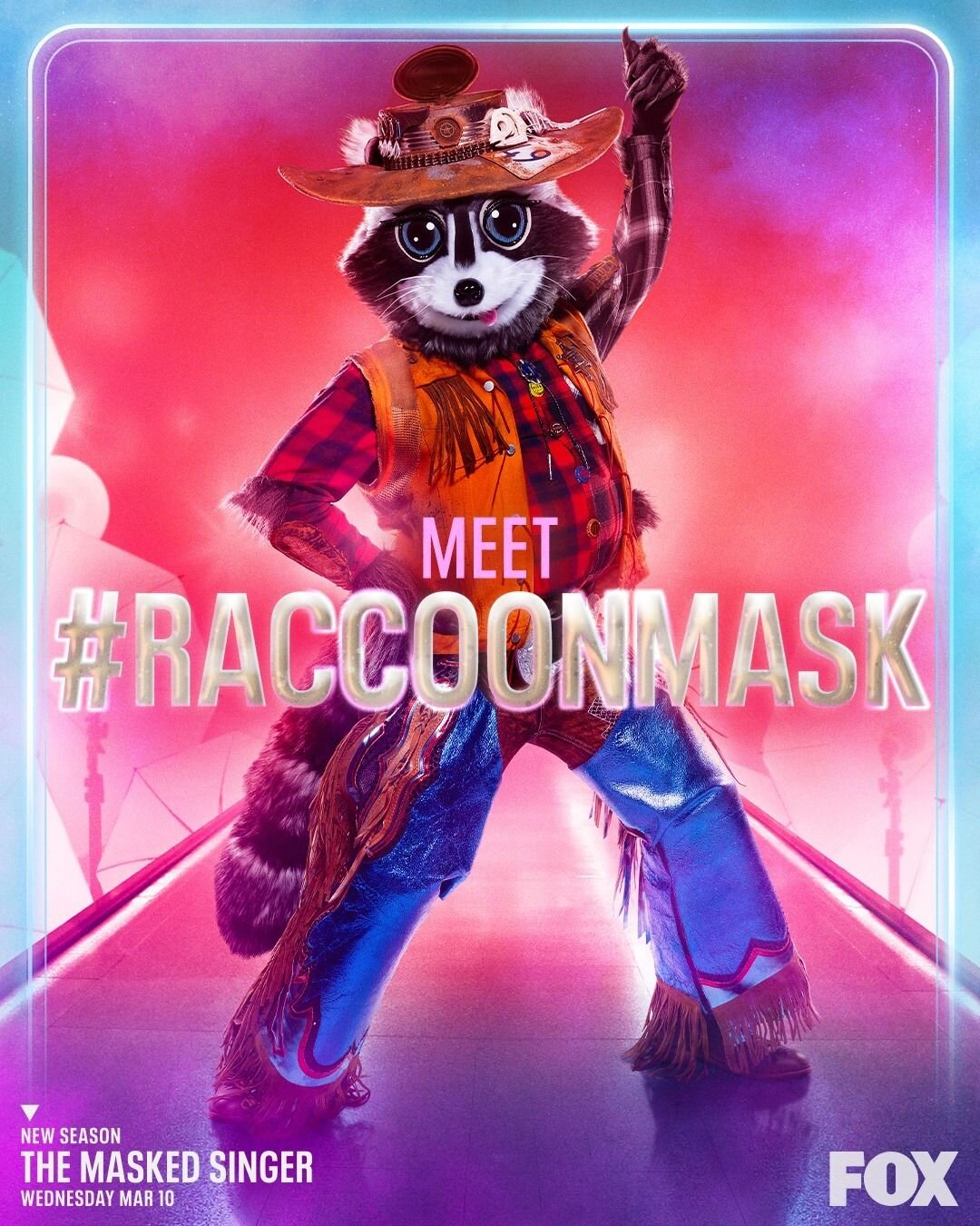 Masked Singer poster with raccoon