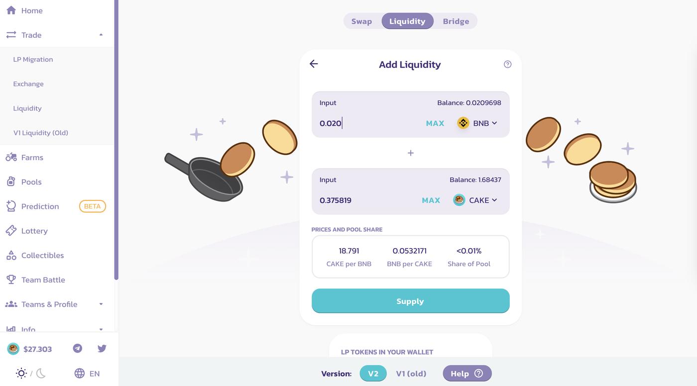 PancakeSwap screenshot