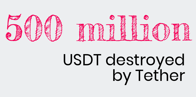 500 million usdt destroyed by tether